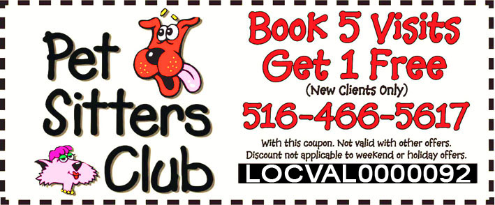 Pet Sitters Club Exclusive Offer for Locust Valley Visitors - Book 5 Visits Get 1 Free - Limited Time Offer!
