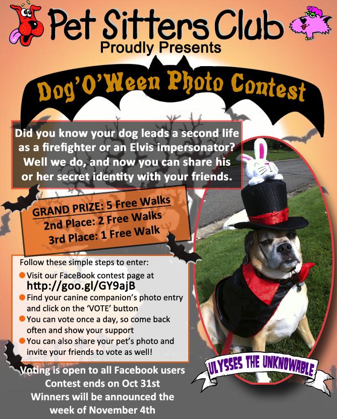 Dog'O'Ween Photo Contest Invitation